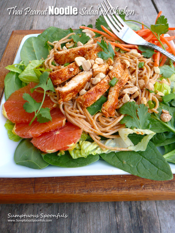 Thai Peanut Noodle Salad with Chicken