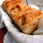 Cheesy Garlic Pull-Apart Bread ~ Sumptuous Spoonfuls #garlic #cheese #bread #recipe