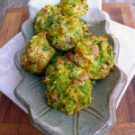 Ham & Cheddar Broccoli Tots ~ Sumptuous Spoonfuls #easy #cheesy #veggie #tots #recipe