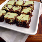 Mint Chocolate Cheesecake Brownies ~ Sumptuous Spoonfuls #decadent #mint #cheesecake #brownie #recipe