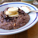 Protein Power Chocolate Banana Oatmeal ~ Sumptuous Spoonfuls #fast #breakfast #recipe