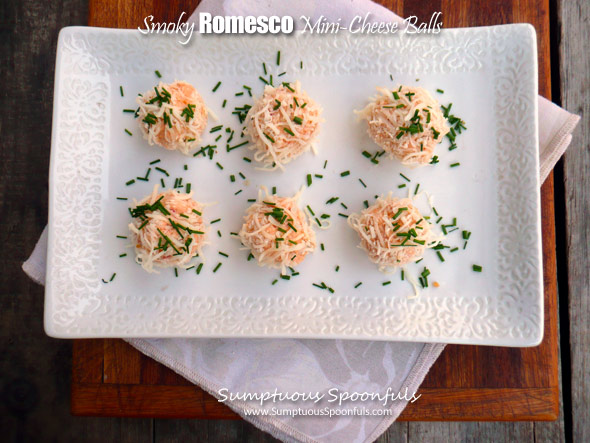Smoky Romesco Mini Cheese Balls