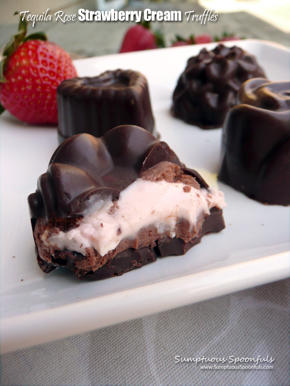 Tequila Rose Strawberry Cream Truffles