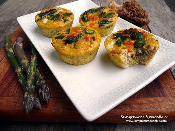 Mushroom Asparagus Quinoa Quiche Cups   Sumptuous Spoonfuls