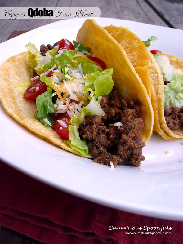 Copycat Qdoba Taco Meat Sumptuous Spoonfuls