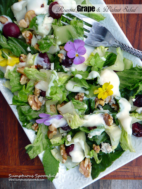 Roasted Grape & Walnut Salad