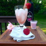 The Rhubarb Rose Cocktail ~ Sumptuous Spoonfuls#rhubarb #strawberry #cream #cocktail #recipe