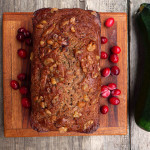 Cinnamon Cranberry Chai Zucchini Bread ~ Sumptuous Spoonfuls #healthy #chai #zucchini #bread #recipe