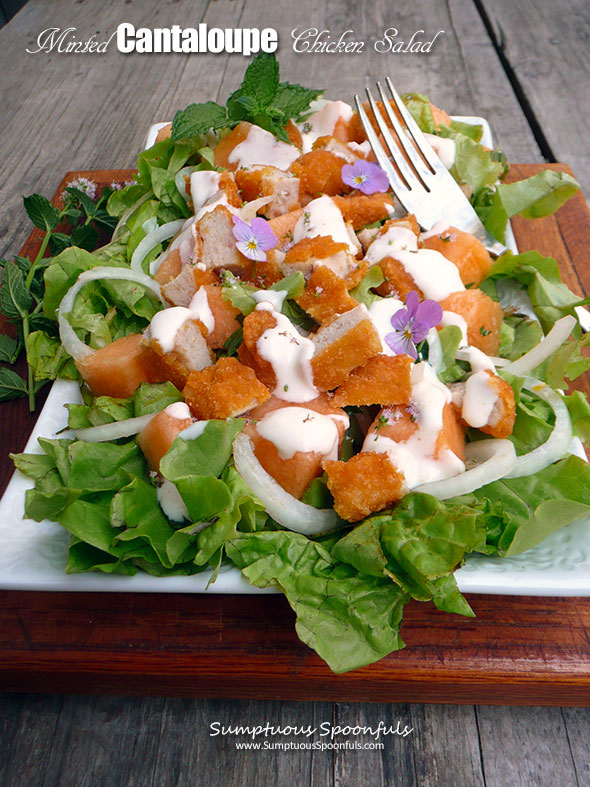 Minted Cantaloupe Chicken Salad