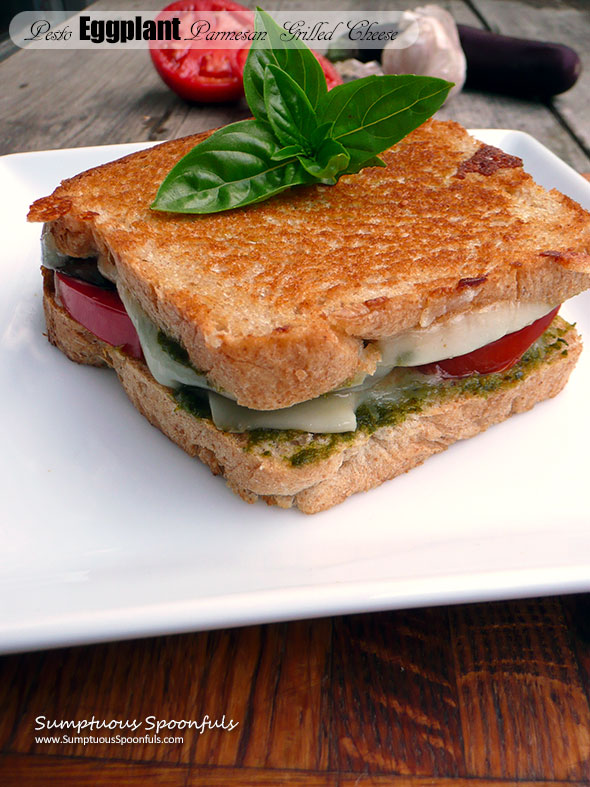 Pesto Eggplant Parmesan Grilled Cheese