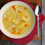 Buttered Noodle Chicken Noodle Soup ~ Sumptuous Spoonfuls #easy #chicken #noodle #soup #recipe