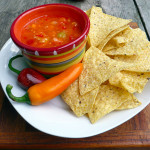 Hurts so Good 3-Pepper Heirloom Tomato Salsa ~ Sumptuous Spoonfuls #spicy #hot #salsa #recipe