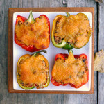Beefy Quinoa Taco Stuffed Peppers ~ Sumptuous Spoonfuls #Healthy #Dinner #Recipe