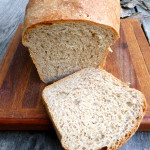 Whole Wheat Yogurt Bread ~ Soft fluffy homemade bread that stays soft for days ~ Sumptuous Spoonfuls #breadmachine #recipe