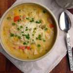 Chicken Chile Corn Chowder ~ Sumptuous Spoonfuls #chicken #chowder #hearty #soup #recipe