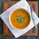 Coconut Curry Carrot & Pumpkin Soup ~ Sumptuous Spoonfuls #curried #carrot #pumpkin #soup #recipe