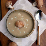 Mushroom Gorgonzola Ale Soup ~ Sumptuous Spoonfuls #beer #cheese #soup #recipe