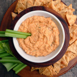 Skinny-licious Buffalo Chicken Dip ~ Sumptuous Spoonfuls #skinny #highprotein #creamy #hot #buffalo #chicken #dip #recipe