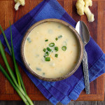 Creamy Cauli Potato Soup ~ Sumptuous Spoonfuls #healthy #cauliflower #potato #soup #recipe