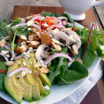 Chicken Avocado Salad with Creamy Herb Avocado Dressing ~ Sumptuous Spoonfuls #dinner #salad #recipe