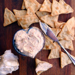 Garlic Herb Sundried Tomato Cheese Spread ~ Sumptuous Spoonfuls #GreekCreamCheese #Easy #Cheese #Spread #recipe