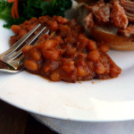 Bacon Bourbon Baked Beans ~ Sumptuous Spoonfuls #decadent #bakedbeans #recipe #glutenfree