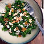 Golden Raisin Gorgonzola Kale Salad ~ Sumptuous Spoonfuls #kale #salad #recipe