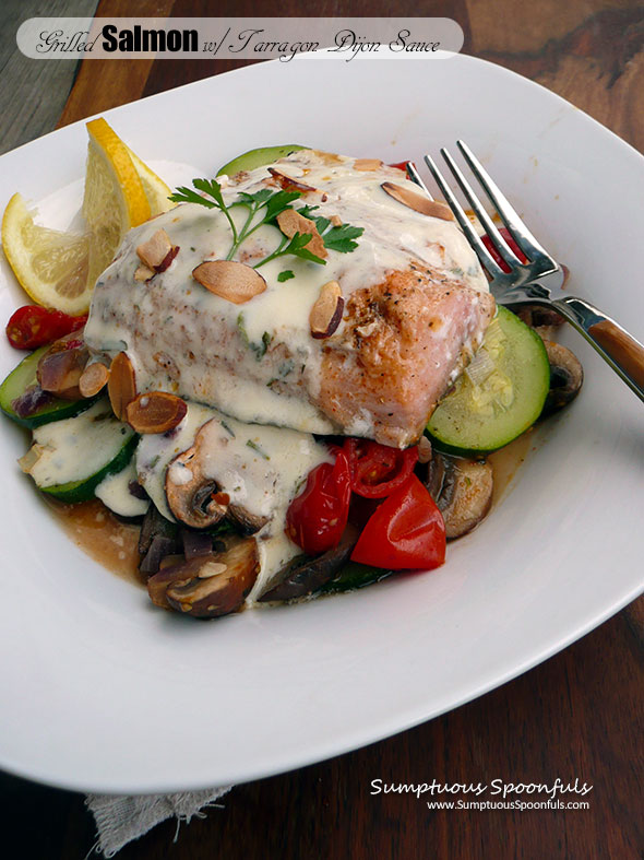 Grilled Salmon with Tarragon Dijon Sauce