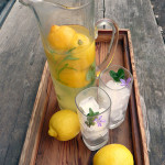 Light Lavender Mint Lemonade ~ Sumptuous Spoonfuls #skinny #refreshing #lemonade #recipe