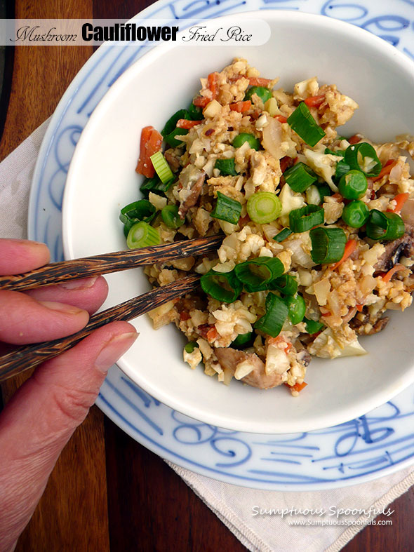 Mushroom Cauliflower Fried Rice