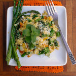 Asparagus Sweet Pepper Egg Scramble ~ Sumptuous Spoonfuls #easy #quick #healthy #breakfast #recipe
