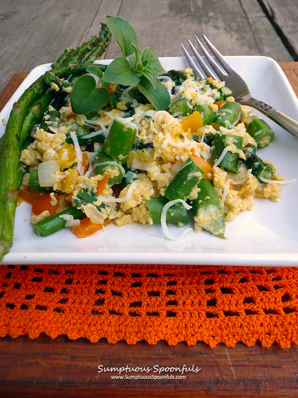 Asparagus Sweet Pepper Egg Scramble