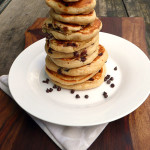 My Daughter's Favorite Chocolate Chip Pancakes ~ Sumptuous Spoonfuls #easy #fluffy #pancake #recipe