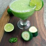 Frozen Cucumber Jalapeno Margarita ~ Sumptuous Spoonfuls #Mexican #cocktail #spicy #margarita #recipe