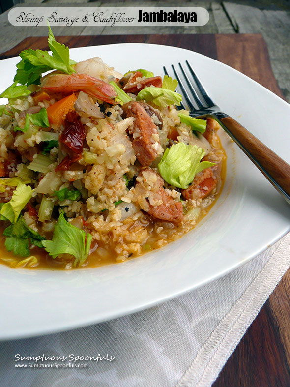 Sausage, Shrimp & Cauliflower Jambalaya