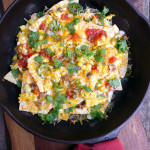 Breakfast Nachos Supreme ~ Sumptuous Spoonfuls #fun #Mexican #breakfast #recipe