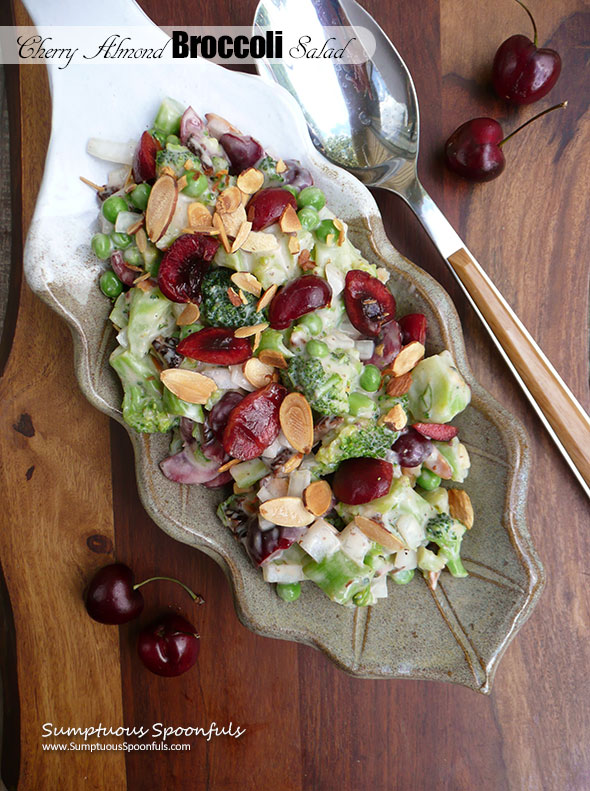 Cherry Almond Broccoli Salad