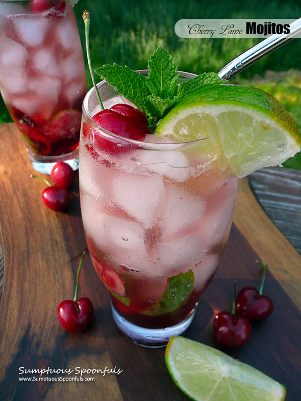 Cherry Lime Mojitos