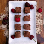 Double Chocolate Cherry Brownies ~ Sumptuous Spoonfuls #cherry #brownie #recipe