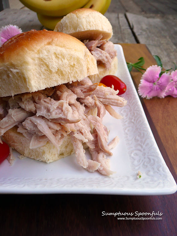Hawaiian Kalua Pork ~ Sumptuous Spoonfuls #easy #ovenbaked #smoky #pork #recipe