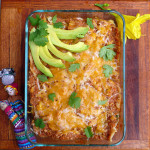 Easy Breakfast Chilaquiles ~ Sumptuous Spoonfuls #Mexican #breakfast #casserole #recipe