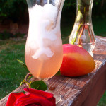 Honey Mango Rose Italian Cream Soda ~ Sumptuous Spoonfuls #Homemade #Tropical #Italian #Soda #Recipe