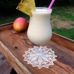 Pineapple Mango Pina Colada ~ Sumptuous Spoonfuls #creamy #tropical #cocktail #recipe