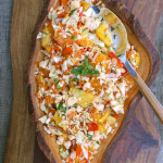 Tropical Pineapple Mango Coleslaw ~ Sumptuous Spoonfuls #fruity #slaw #recipe