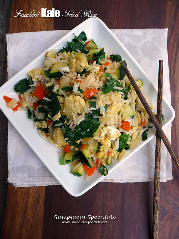 Zucchini Kale Fried Rice