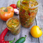 Fermented Heirloom Tomato Salsa ~ Sumptuous Spoonfuls #fermented #salsa #recipe #superhealthy
