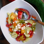 Easy Cucumber Heirloom Tomato Salad ~ Sumptuous Spoonfuls #heirloom #tomato #cucumber #salad
