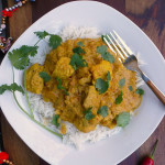Indian Butter Chicken {Murgh Makhani} - lightened ~ Sumptuous Spoonfuls #light #healthy #Indian #Butter #Chicken #recipe