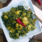 Indian Creamed Spinach w Cheese (Saag Paneer) ~ Sumptuous Spoonfuls #Indian #spinach #recipe