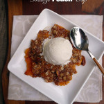 Mango Peach Crisp ~ Sumptuous Spoonfuls #easy #peach #tropical #dessert #recipe